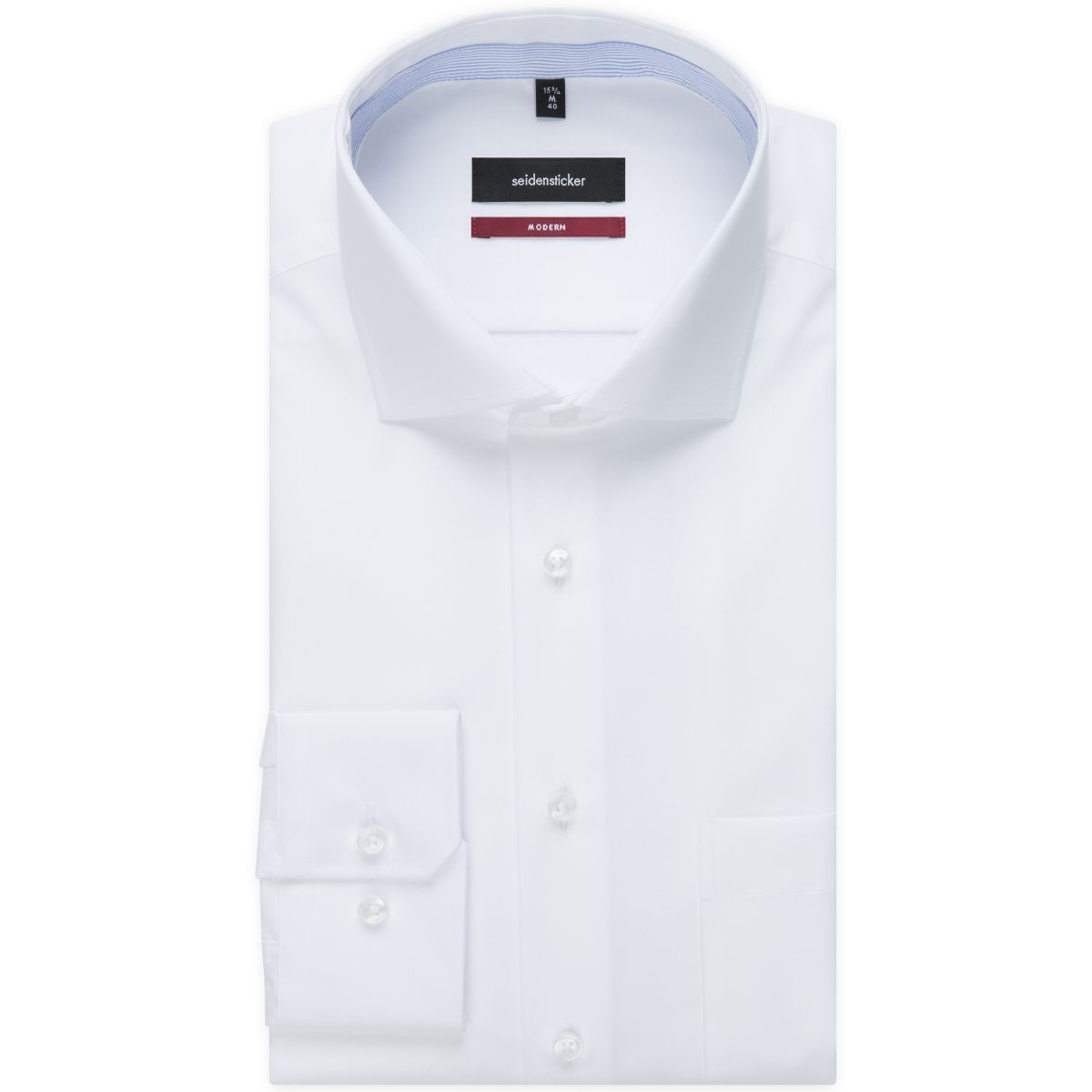 Chemise droite blanche chambray