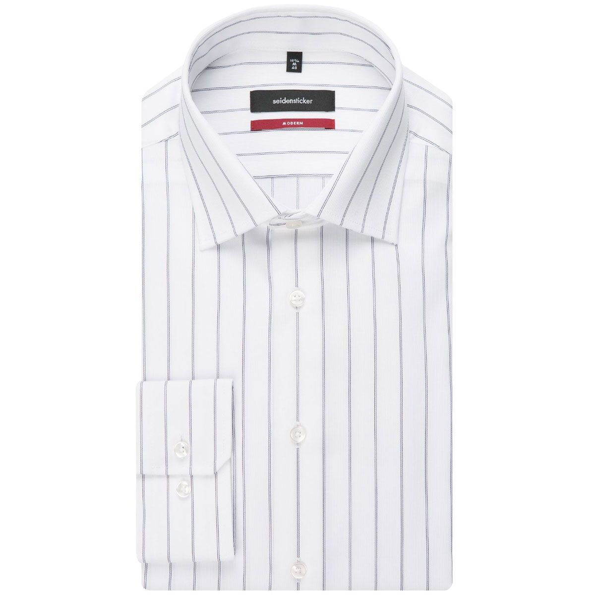 Chemise droite Printed fines rayures espacées