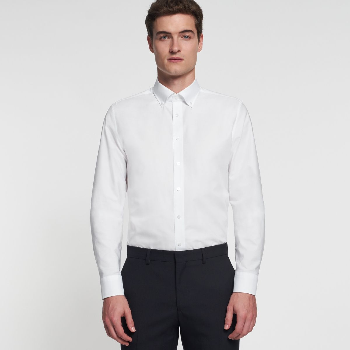 Chemise slim Printed blanc oxford