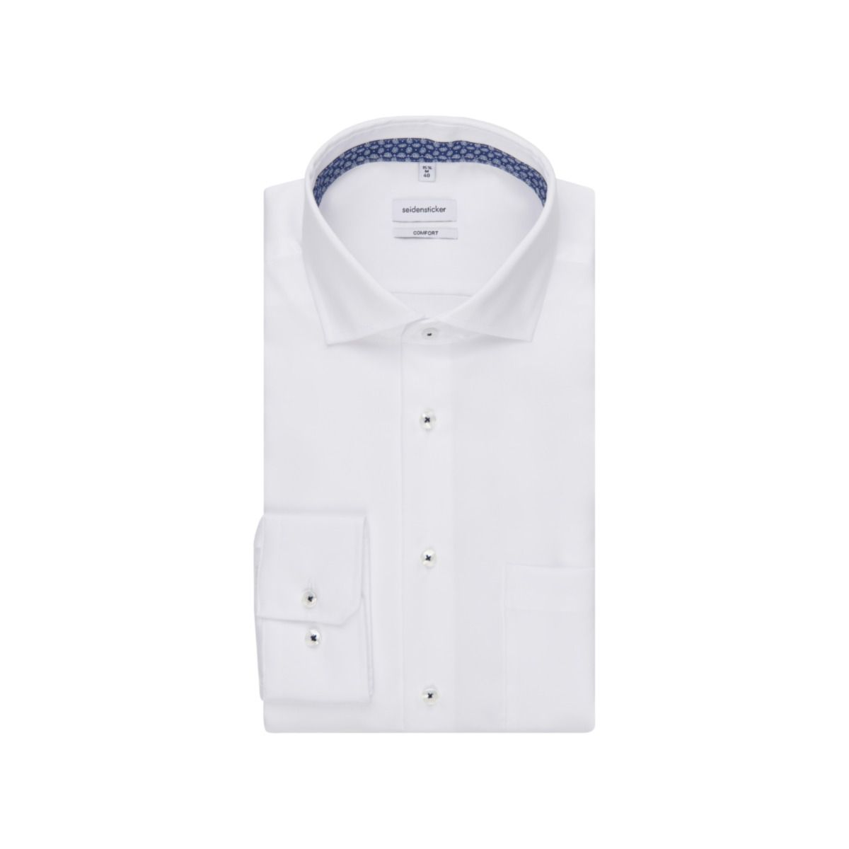 Chemise confort blanche twill