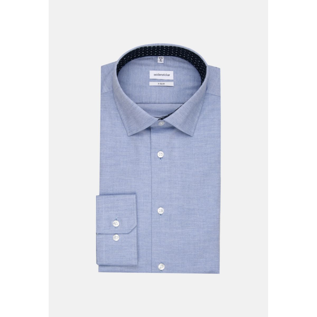 Chemise extra-slim twill bleu ciel manches extra-longues