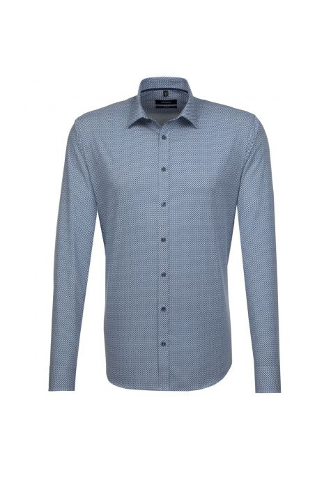 Chemise TAILORED Printed bleu turquoise