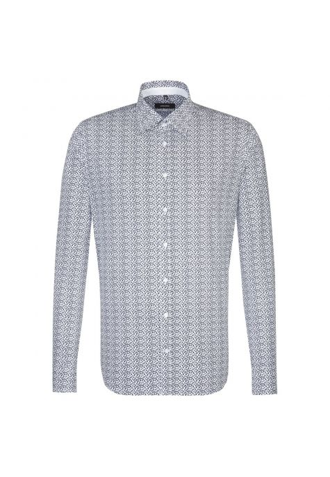 Chemise extra-slim Printed marine motif voiliers