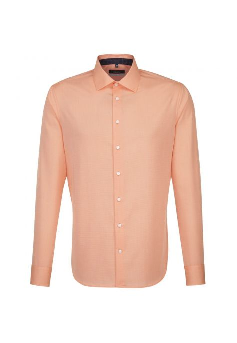 Chemise extra-slim orange fil à fil